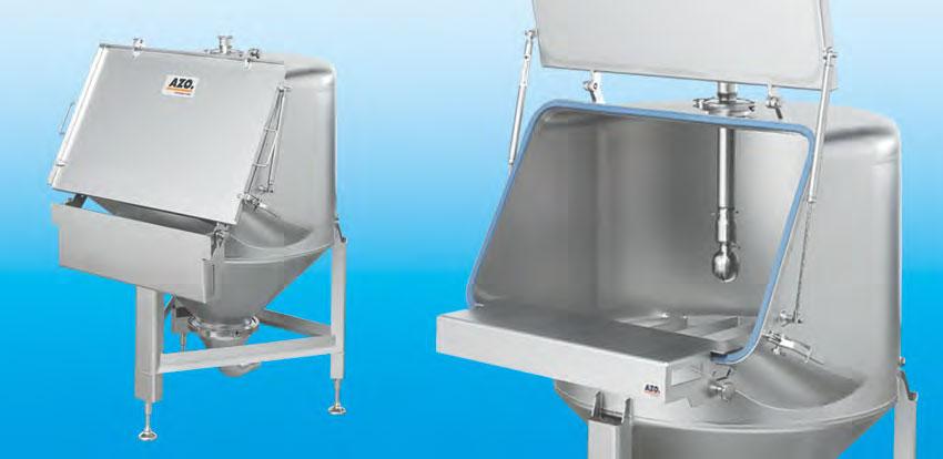 Оборудование для автоматизации, беспылевой растариватель AZO модель ET H