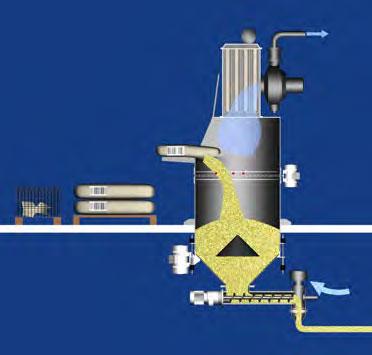 Оборудование для автоматизации, беспылевой растариватель AZO модель ET P