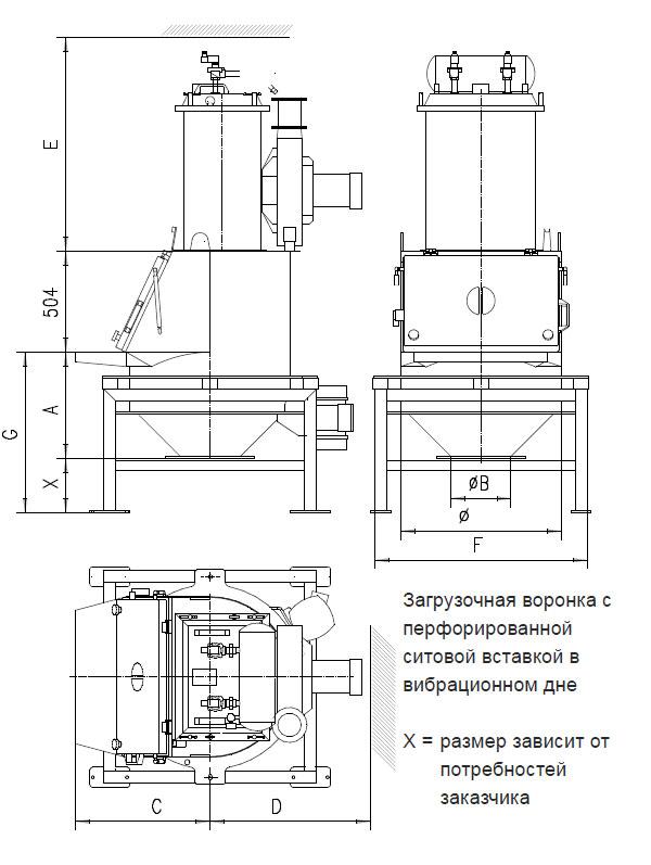 Оборудование для автоматизации, беспылевой растариватель AZO модель ET RF
