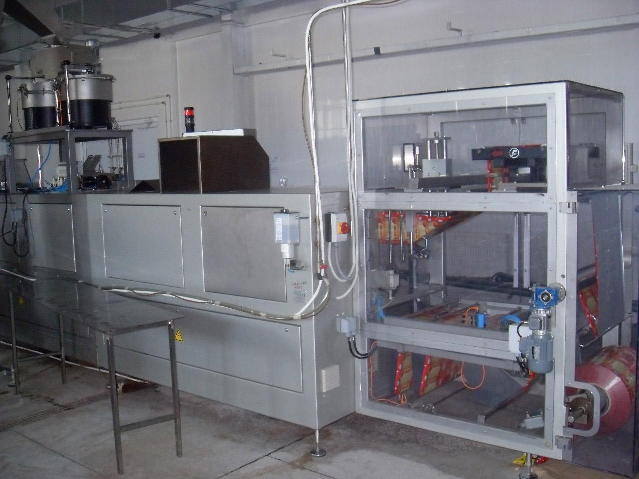 Оборудование горизонтальный упаковочный автомат Bossar BMK 2600 для фасовки в дой-пак пакет с угловым колпачком 2008 года выпуска
