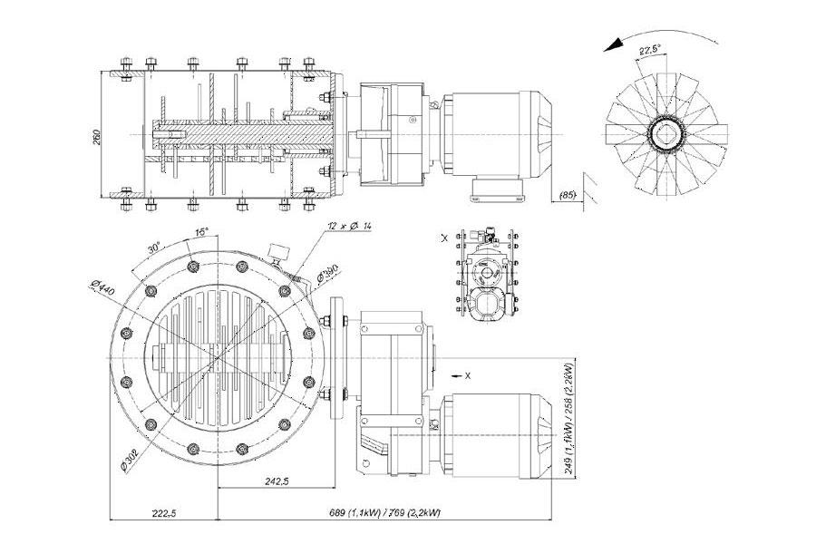 Оборудование для автоматизации, комколоматель AZO модель KB300R