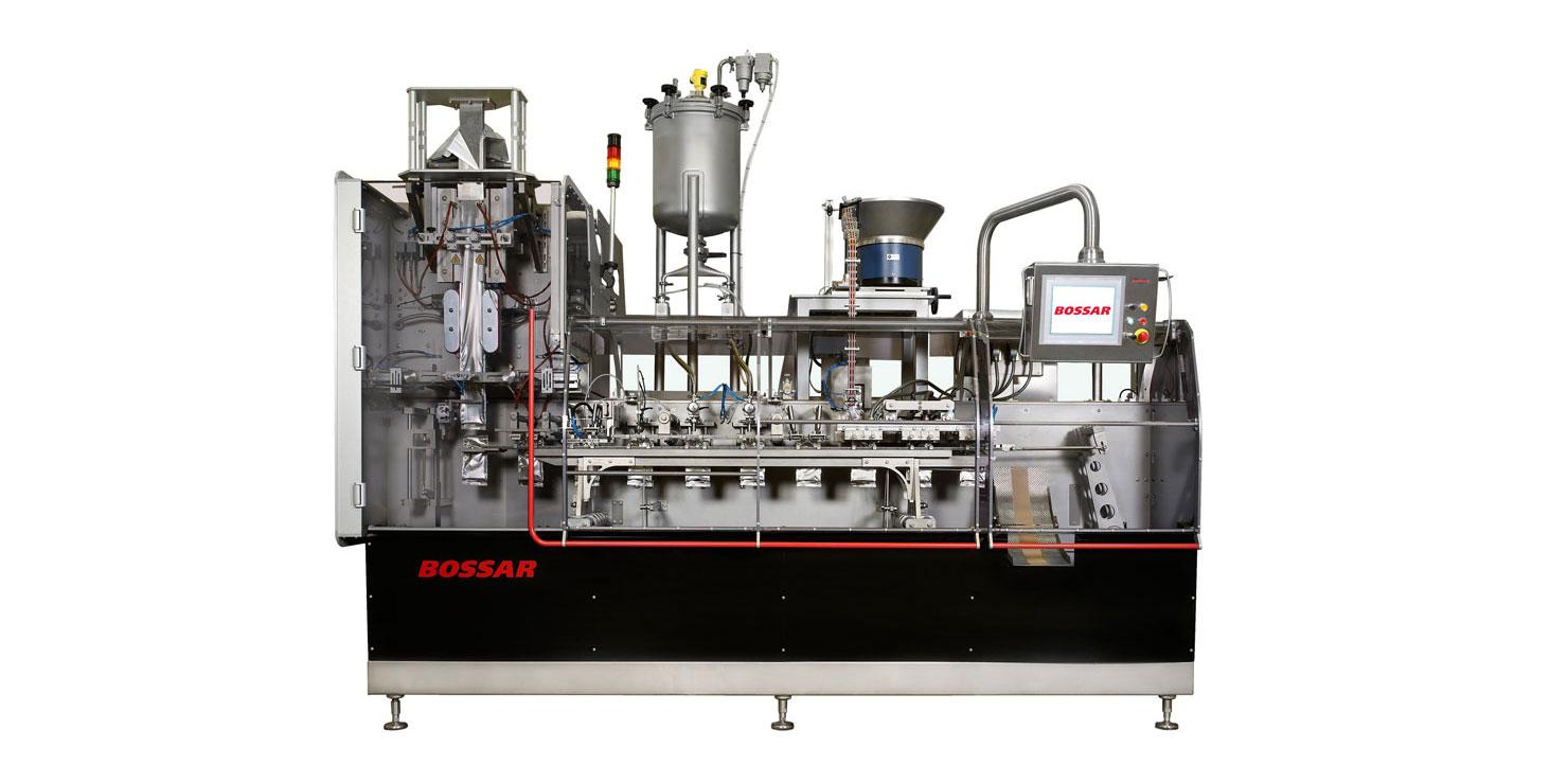 Оборудование, линия для упаковки в стабило пакет с колпачком Bossar BVH