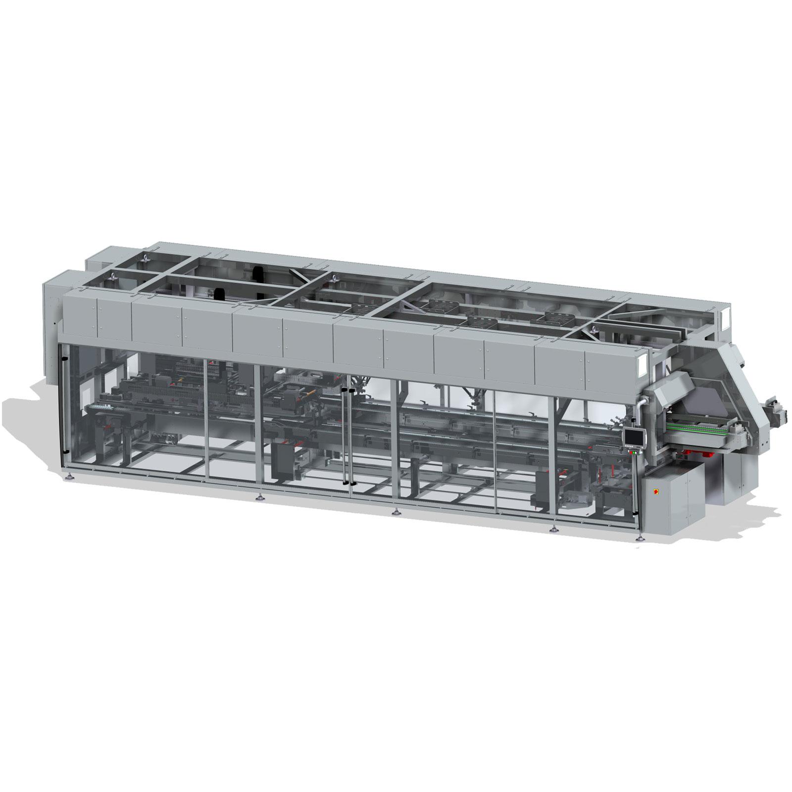 Оборудование, машина для упаковки в чехол с вертикальной загрузкой компании Ixapack
