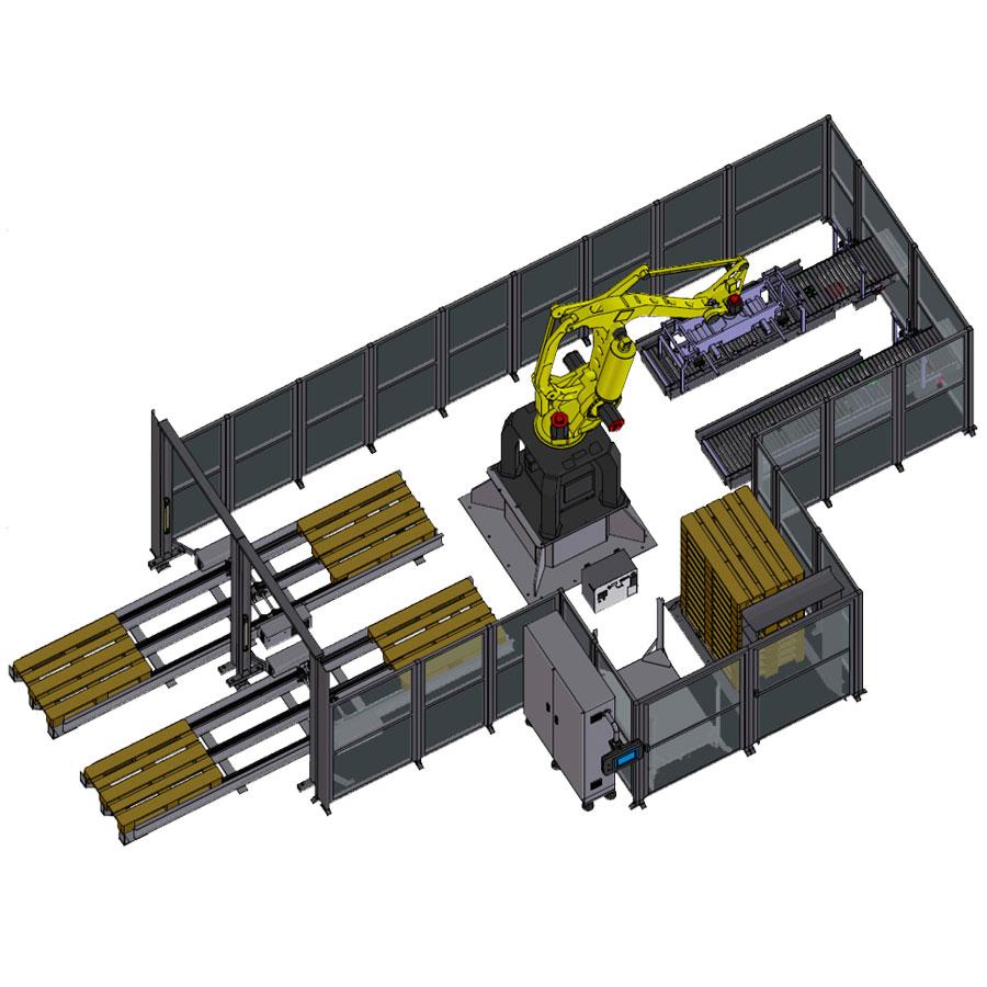 Оборудование, машина по паллетизации, паллетайзер компании Ixapack