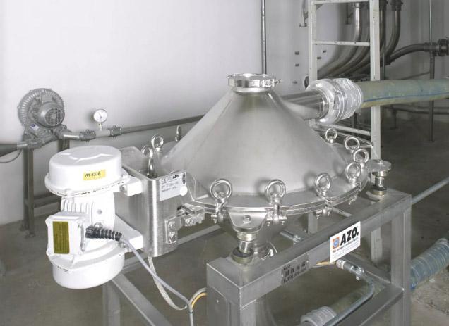 Оборудование для автоматизации, просеиватель AZO модель TW650 для контрольного просеивания в пневмотранспортных системах
