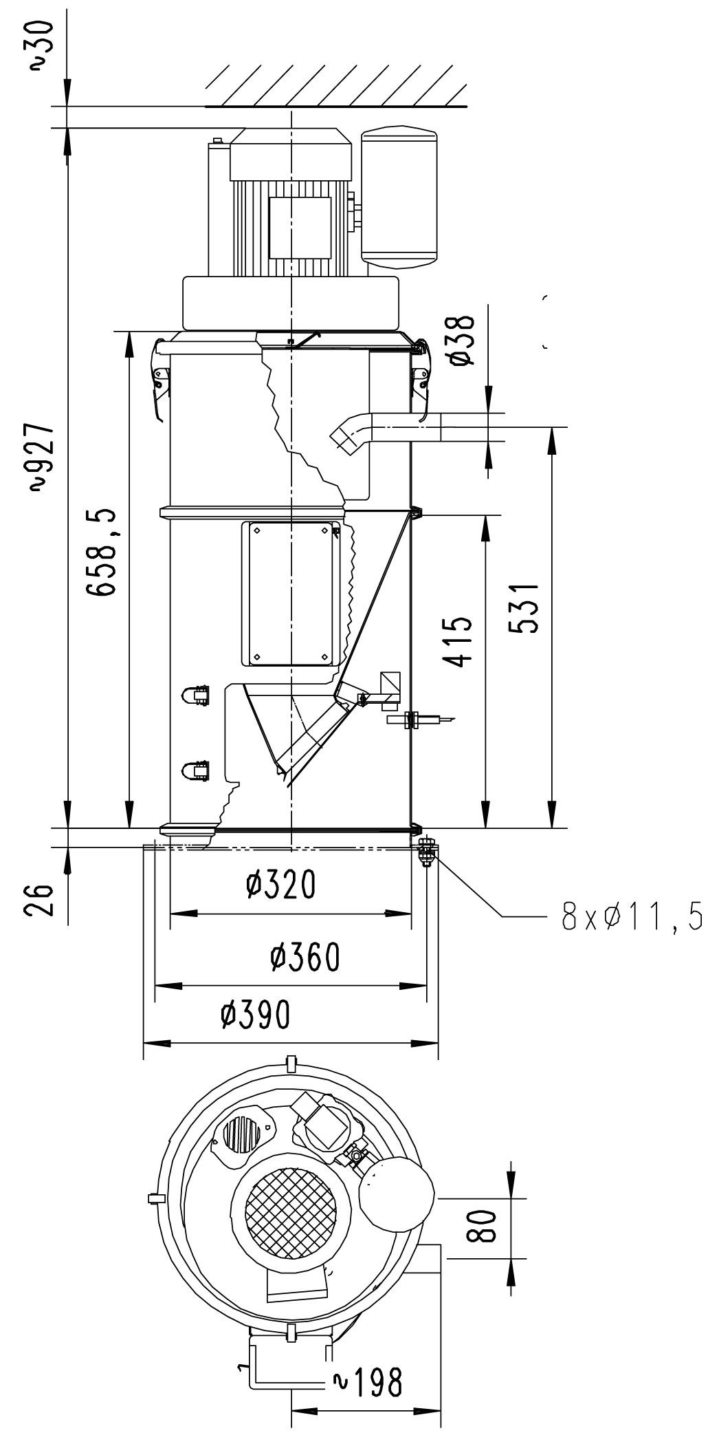 Оборудование для автоматизации, вакуумный конвейер AZO модель R320-38 пневматический загрузчик