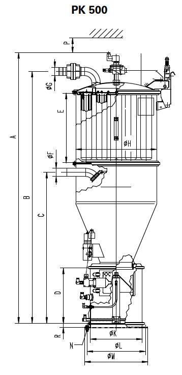 Оборудование для автоматизации, вакуумный загрузчик типа PK для трудносыпучих материалов