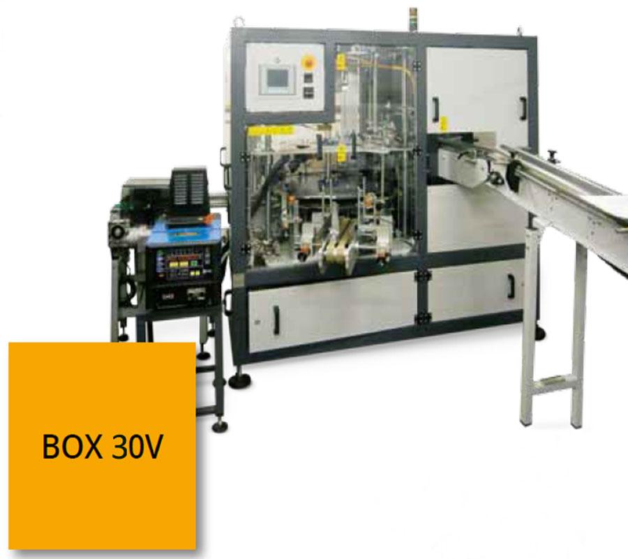 Оборудование, вертикальная упаковочная машина в картонные коробки Box 30V Nomatech