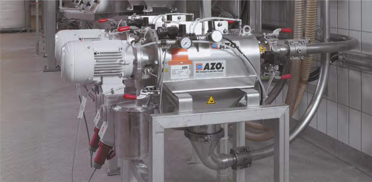 Оборудование для автоматизации, вихревой просеиватель AZO модель FA360 для использования в процессах транспортировки