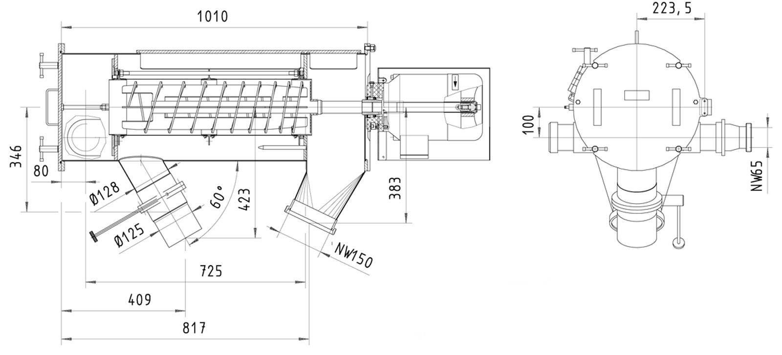 Оборудование для автоматизации, вихревой просеиватель AZO модель FLF650 для просеивания жидкостей