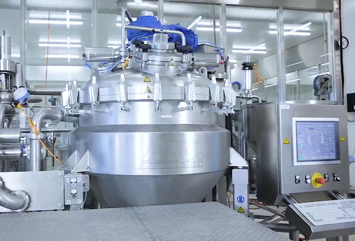 Технологическое оборудование, линия для производства детского питания AZO Liquids
