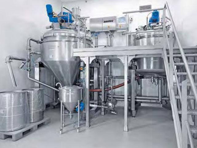 Технологическое оборудование, линия для производства фармацевтических кремов AZO Liquids