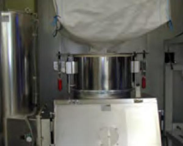 Оборудование для автоматизации, уплотнитель пустых мешков у беспылевого растаривателя AZO модель ET F