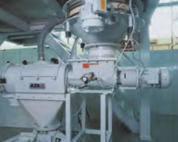 Оборудование для автоматизации, выгрузка с помощью вибрационного дна у беспылевого растаривателя AZO модель ET K