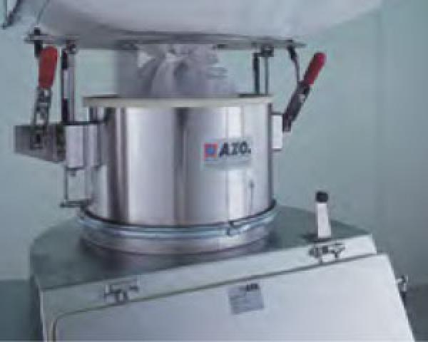 Оборудование для автоматизации, соединительная система для биг-бэгов у беспылевого растаривателя AZO модель ET P