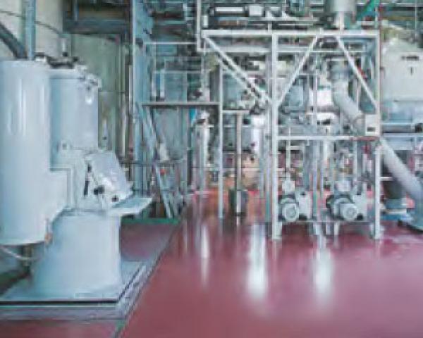 Оборудование для автоматизации, уплотнитель пустых мешков у беспылевого растаривателя AZO модель ET P