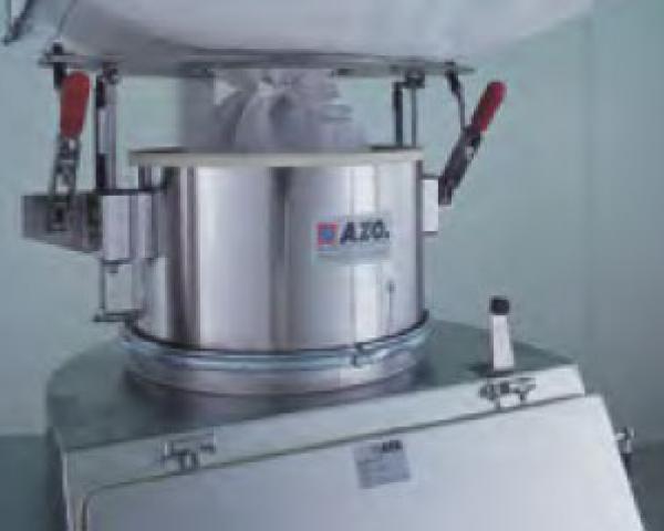 Оборудование для автоматизации, соединительная система для биг-бэгов у беспылевого растаривателя AZO модель ET RF