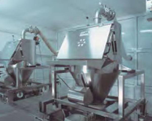 Оборудование для автоматизации, с центральной аспирацией у беспылевого растаривателя AZO модель ET RF