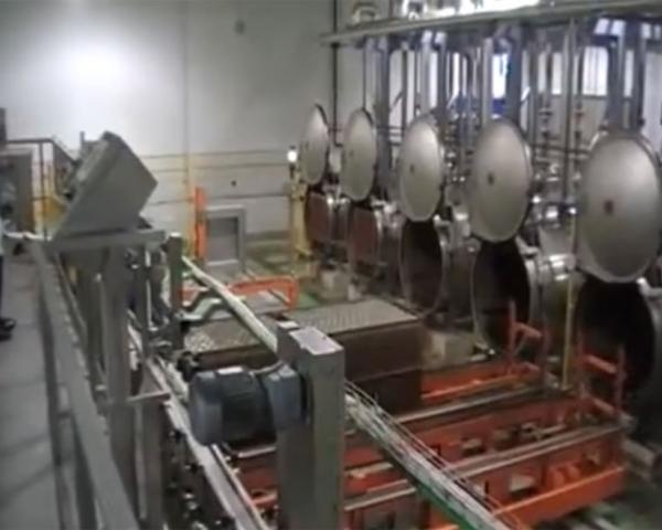 Автоматическая линия стерилизации мясных консервов, готовое оборудование для приготовления Украина