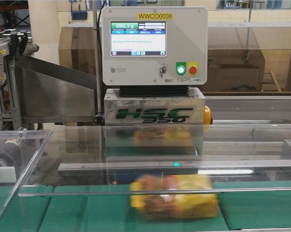Контроль веса в потоке упаковки пасты, готовое оборудование Украина
