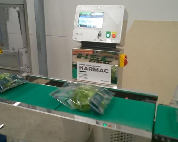 Контроль веса в потоке упаковки салата и листья салата, готовое оборудование Украина