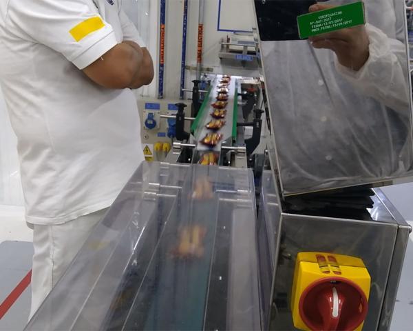 Контроль веса в потоке упаковки снеков, готовое оборудование Украина