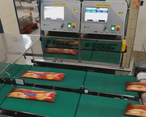Контроль веса в потоке упаковки спагетти, готовое оборудование Украина