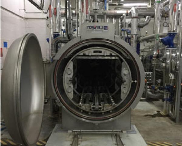 Линия стерилизации в жесть и стекло, готовое оборудование для приготовления Украина