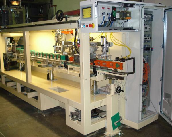 Упаковка и фасовка продукта в готовый бумажный пакет, готовое оборудование Украина
